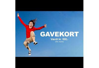 Gavekort Trampolincenter.dk 500,- kr