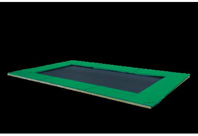 Trampolin PE-Nedgravet grøn