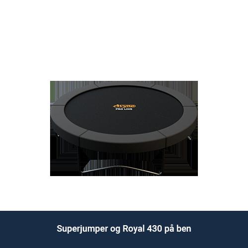 Superjumper_Royal_430_på_ben_trampolin